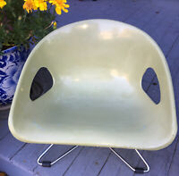 Vtg. Mid Century Modern Hamilton Cosco Molded Kid's Booster Seat Chair Green