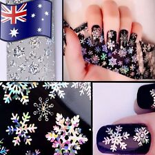 Snowflake Nail Art Transfer Wrap Foil Tip Sticker Christmas Decal Decoration New