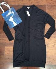 NWT Anthropologie Cardigan Black Long By Bordeaux Sz XS Retail $88