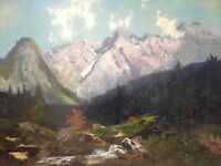 ::THEODOR GUGGENBERGER *1866 °GEBIRGE LANDSCHAFT GARMISCH-PARTENKIRCHEN° ANTIK