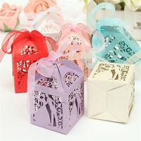 50stk Gastgeschenk Süßigkeiten Geschenkbox Bonboniere-Geschenkverpackun Hochzeit