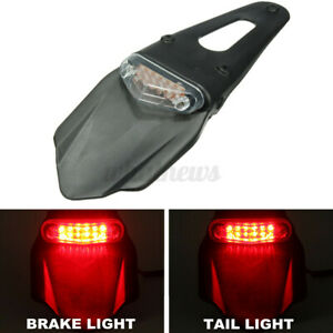 Universal LED Rear Stop Brake Tail Light Fender Clear Enduro For CRF EXC
