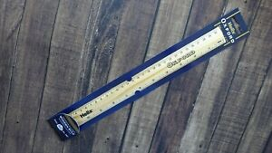 """Helix Oxford Wooden Ruler Metric & Imperial 12"""" - 30cm - 300mm - Wooden Rule"""