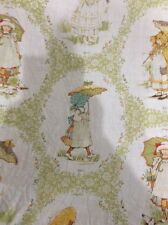 HOLLY HOBBIE TWIN FITTED SHEET AMERICAN GREETING CORP.