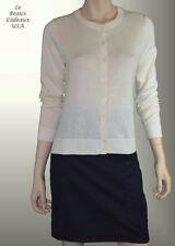 BANANA REPUBLIC Women Cardigan Sweater X-LARGE XL Ivory LongSleeve RoundNeck NEW