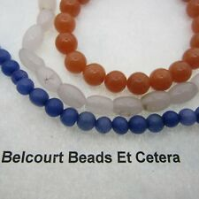Blue Quartz, Aventurine and Snow Quartz - 3 Strands of Gemstone Beads