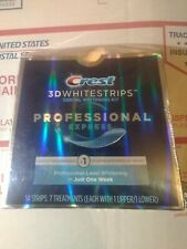 Crest 3D Whitestrips Professional Express 14 Strips 12/2020