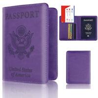 Eg _ Stati Uniti USA Similpelle Passaporto Blocco Rfid Custodia Borsa da Viaggio