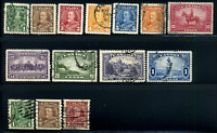 Canada #217-230 used VF 1935 King George V Pictorial Issue & Coils CV$41.05