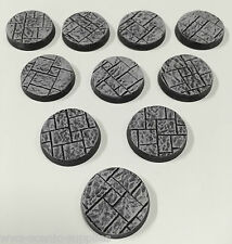 WWG 10x25mm Paving Resin Wargame Miniature Model Bases Warlord Warhammer R2