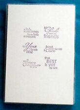 """Stampin' Up! cling mount rubber stamp set BEST YET, Friend Sentiment Phrases 1⅜"""""""