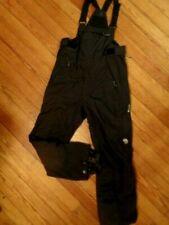 Mountain Hardwear Conduit ski snowboard black bibs full leg zippers men's size M