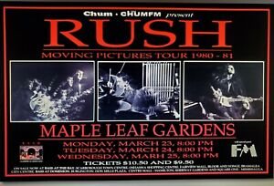Rush Moving Pictures Toronto Tour Poster