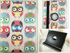 FUNDA CARCASA TABLET IPAD AIR 2 IPAD 6 GIRATORIA 360º DIBUJO BUHOS