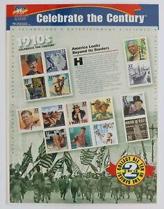 32c Celebrate the Century 1910s Souvenir Sheet of 15 1998 Scott #3183 Sealed