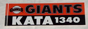 1993 San Francisco SF Giants MLB Baseball KATA 1340 Car Vehicle Bumper Sticker