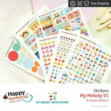 My Melody V1 Stickers Diary Planner Scrapbooking Decoration Stickers 6 sheets