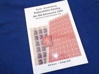 SBZ Bärenserie 1945/1948 Plattenfehlerkatalog 2018 (888888)