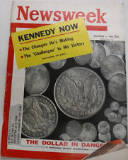 Newsweek Magazine Ted Kennedy The Dollar In Danger December 5, 1960 100716R2