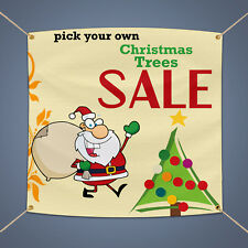 Christmas Tree Sale Outdoor Business Shop Advertising Vinyl Banner Sign 5' X 3'
