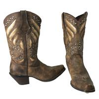 "Durango Crush 12"" Sequin Embroidered Western Cowboy Boots Women's Sz 9.5M RD003"
