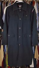 DIESEL Jacket BLACK Medium MENS? Womens? LINEN Blend COTTON Button FRONT Long SZ