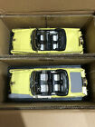 1956 Ford Sunliner YELLOW 2 car set 1:18 Ertl American Muscle 1046