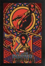 BLACK PANTHER WAKANDAN 13x19 FRAMED GELCOAT POSTER MARVEL COMICS MOVIE NEW HOT!!
