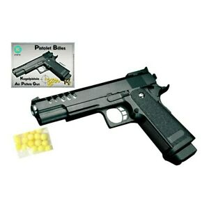Erbsenpistole Kinder Fasching Pistole Elite Edition mit Munition KUGEL PISTOLE