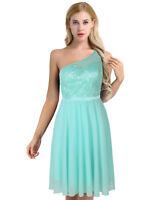 Women Lady Lace Evening Formal Cocktail Party Gown Prom Bridesmaid Chiffon Dress