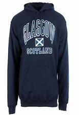 Children's Harvard Style Hooded Jumper With Glasgow Text In Navy 5-6 Years