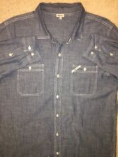 LRG Denim XL L/S Lifted Research Group Sewn X LARGE BUTTON FRONT STREET