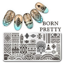 BORN PRETTY Nail Art Stamp Plate Manicure Image Template Ethnic Pattern BP-L048