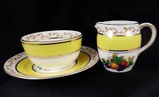 E Brain & Co Foley China Deco Cream Jug & Sugar Bowl & Stand Fruit Pattern 477