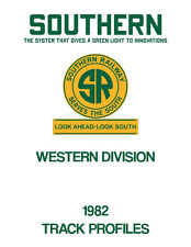 Southern Railway Western Division Track Chart Profile 1982 SOU Norfolk Southern