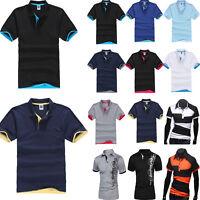 Fashion Men's Casual Short Sleeve Golf Tee Shirts Summer Cotton T-Shirt Tops