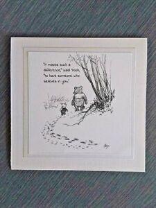 Hand Made Winnie the Pooh greeting card
