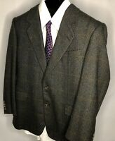 Hickey Freeman Mens 42 R Plaid 2 Button Boardroom Wool Blazer Sport Coat Jacket