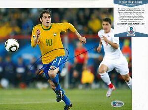 "KAKA signed (BRAZIL) SOCCER ""Ricardo Kaka"" 8X10 photo BECKETT BAS V77544"