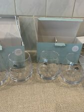 More details for sophie conran portmeirion glass tumblers,whisky glasses balloon set of 4 new box