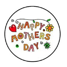"""48 Happy Mothers Day!!!  ENVELOPE SEALS LABELS STICKERS 1.2"""" ROUND"""