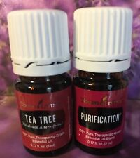 YOUNG LIVING  Tea Tree & Purification Essential Oils 5 ml New & Sealed