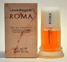 Roma by Laura Biagiotti for Women 0.85oz Eau de Toilette Spray (Vintage, 90%Full