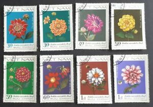 1982 Vietnam Full Set Of 8 Stamps - Dahlia's - PC/MNH
