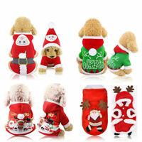 Weihnachten Pet Kleidung Wärmer Mantel Hund Katze Hoodie Welpe Overall Weste Neu