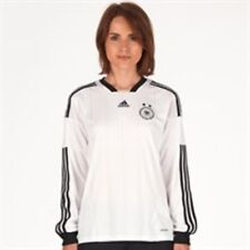 adidas Womens size 16 / 18   DFB Germany Long Sleeve Home Shirt White/Black/Gold