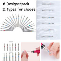 6Pcs/Kit Electric Nail Art Drill Bits File Cuticle Manicure Pedicure Nails Tool