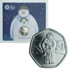 IN STOCK Christmas 50p coins NEW Snowman and boy fifty pence Royal Mint BU pack