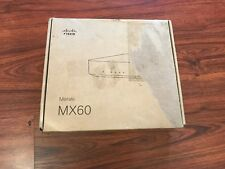 New Cisco Meraki MX60  Small Security Appliance  Model: 600-16010  M/N : MX60-HW