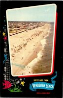 Delaware DE Rehoboth Beach Greetings Postcard Old Vintage Card View Standard PC